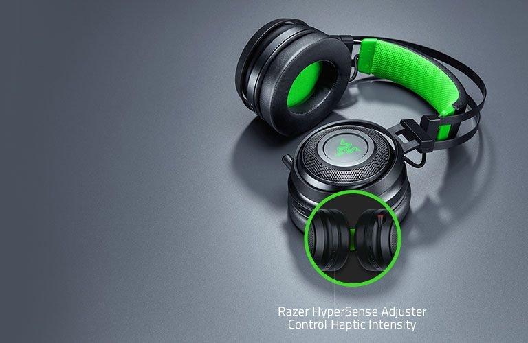 Casti Gaming Wireless Razer Nari Ultimate Xbox One , Microfon (Negru/Verde) evoMAG
