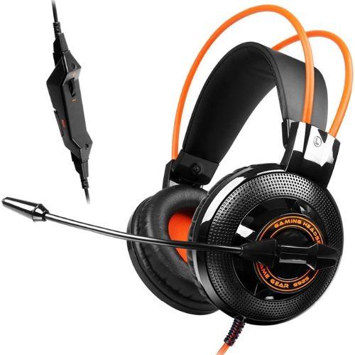 Casti Gaming cu Microfon Somic G925-BO (Negru/Portocaliu)