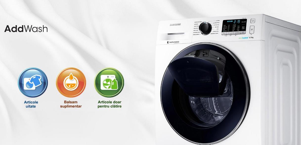 Masina de spalat Samsung Eco Bubble WW80K5410UW evoMAG
